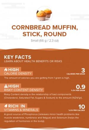 Cornbread muffin, stick, round