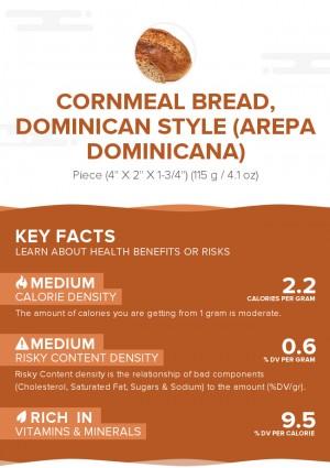 Cornmeal bread, Dominican style (Arepa Dominicana)