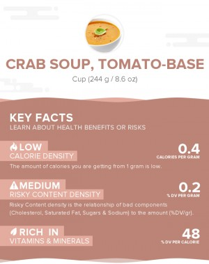 Crab soup, tomato-base