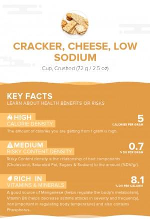 Cracker, cheese, low sodium