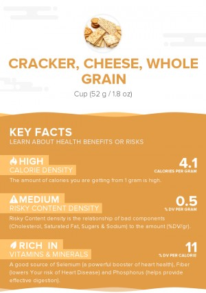 Cracker, cheese, whole grain