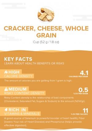Cracker, cheese, whole grain