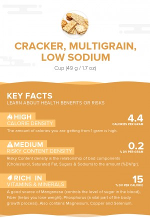 Cracker, multigrain, low sodium