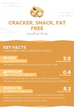 Cracker, snack, fat free