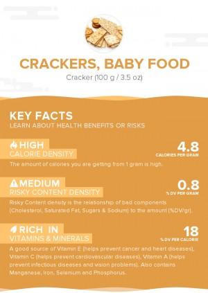 Crackers, baby food