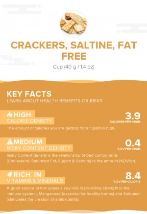 Crackers, saltine, fat free