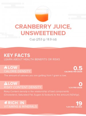 Cranberry juice, unsweetened