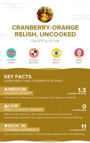 Cranberry-orange relish, uncooked