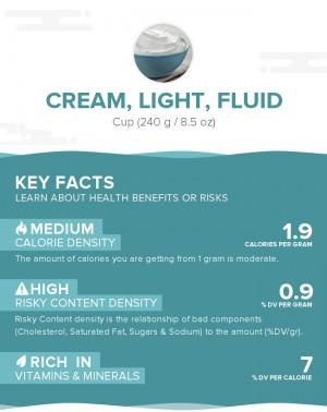 Cream, light, fluid