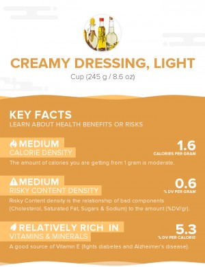 Creamy dressing, light