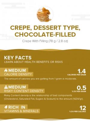 Crepe, dessert type, chocolate-filled