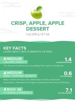 Crisp, apple, apple dessert