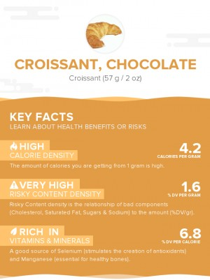 Croissant, chocolate