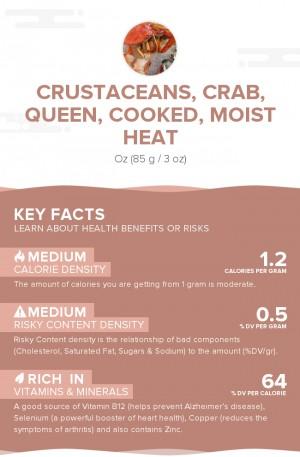 Crustaceans, crab, queen, cooked, moist heat