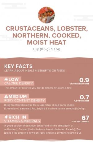 Crustaceans, lobster, northern, cooked, moist heat