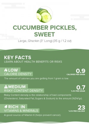 Cucumber pickles, sweet