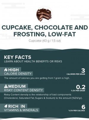 Cupcake, Chocolate and Frosting, Low-Fat