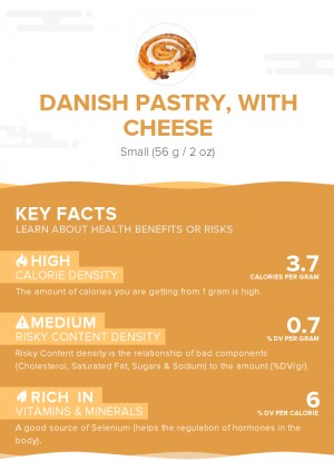 Danish pastry, with cheese