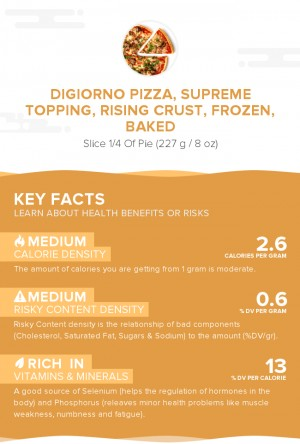 DIGIORNO Pizza, supreme topping, rising crust, frozen, baked
