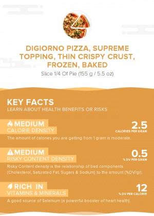 DIGIORNO Pizza, supreme topping, thin crispy crust, frozen, baked