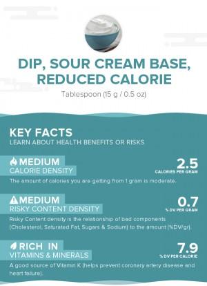 Dip, sour cream base, reduced calorie