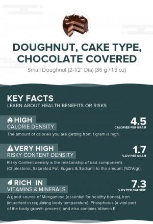 Doughnut, cake type, chocolate covered