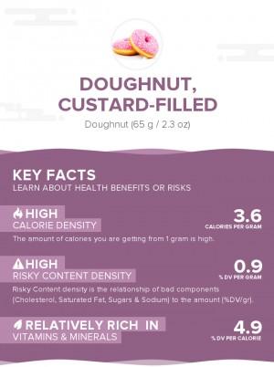 Doughnut, custard-filled