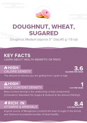 Doughnut, Wheat, Sugared
