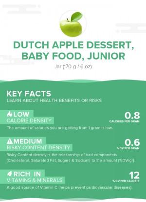 Dutch apple dessert, baby food, junior