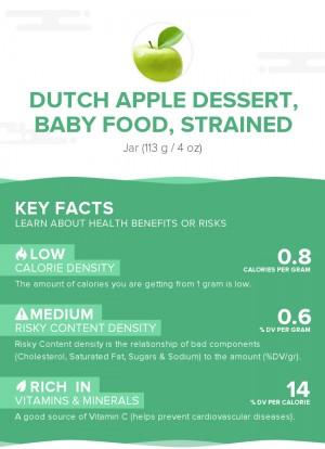 Dutch apple dessert, baby food, strained