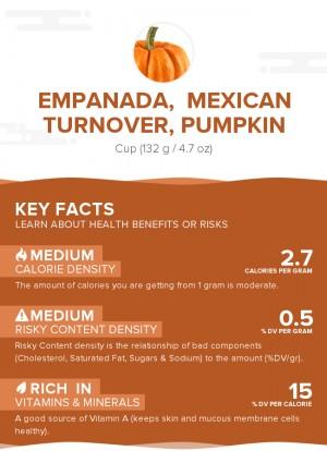 Empanada,  Mexican turnover, pumpkin