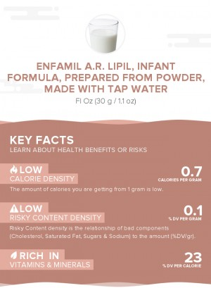 Enfamil A.R. LIPIL, infant formula, prepared from powder, made with tap water