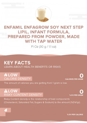 Enfamil Enfagrow Soy Next Step LIPIL, infant formula, prepared from powder, made with tap water