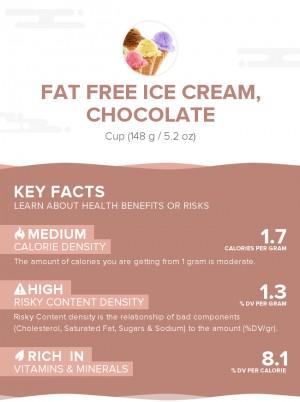 Fat free ice cream, chocolate