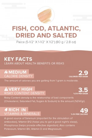 Fish, cod, Atlantic, dried and salted