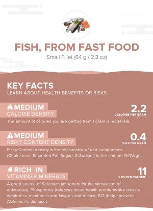 Fish, from fast food