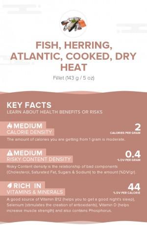 Fish, herring, Atlantic, cooked, dry heat