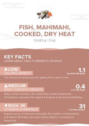 Fish, mahimahi, cooked, dry heat