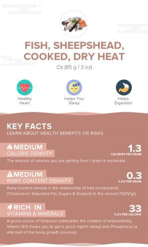 Fish, sheepshead, cooked, dry heat