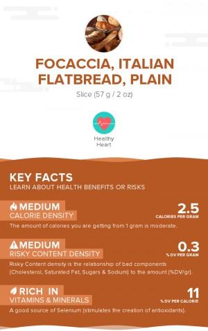 Focaccia, Italian flatbread, plain