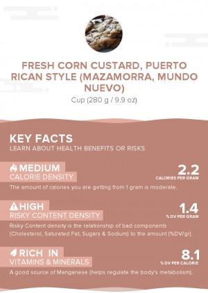 Fresh corn custard, Puerto Rican style (Mazamorra, Mundo Nuevo)