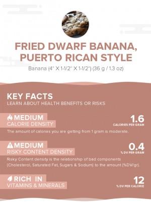 Fried dwarf banana, Puerto Rican style