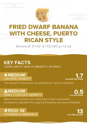 Fried dwarf banana with cheese, Puerto Rican style