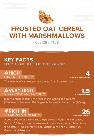 Frosted oat cereal with marshmallows