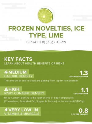 Frozen novelties, ice type, lime