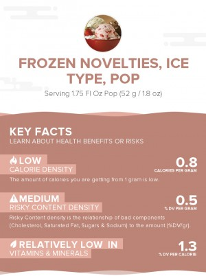 Frozen novelties, ice type, pop