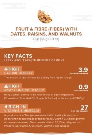 Fruit & Fibre (fiber) with dates, raisins, and walnuts