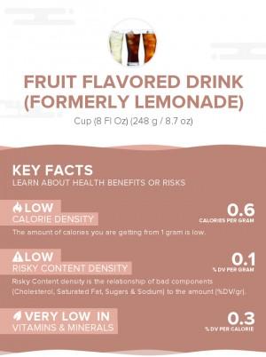 Fruit flavored drink (formerly lemonade)