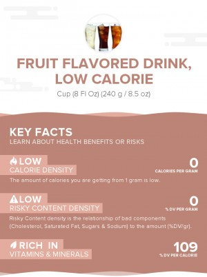 Fruit flavored drink, low calorie