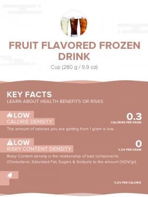 Fruit flavored frozen drink
